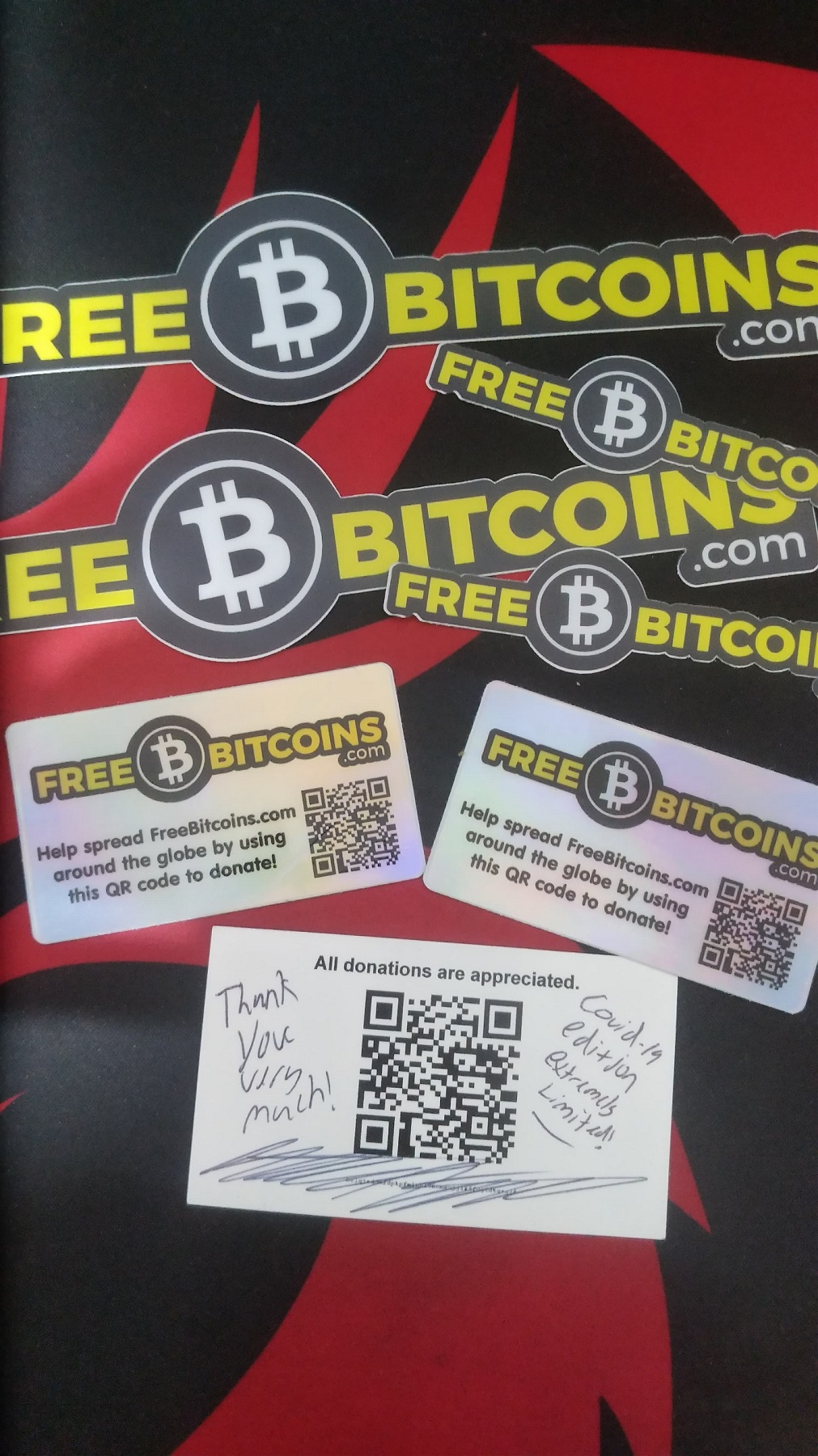FreeBitcoins Stickers