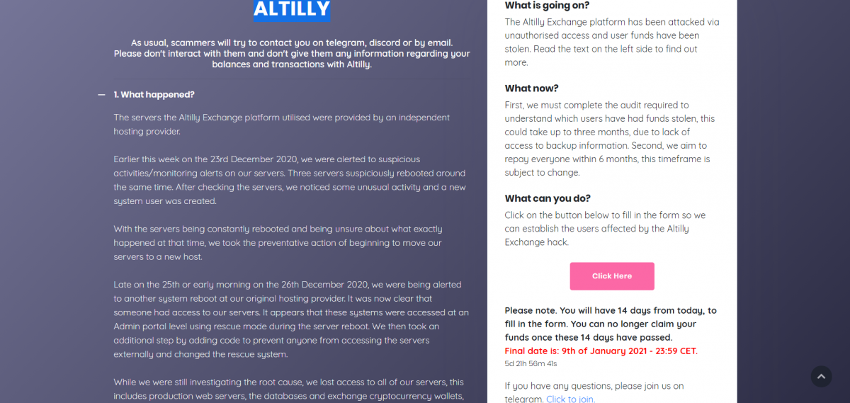 ALTILLY Exit Scam Picture