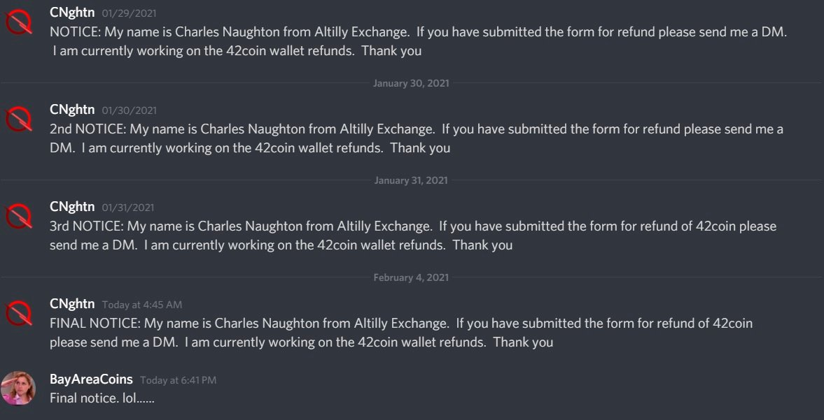 Altilly Final Notice (cryptocurrency exchange scam)