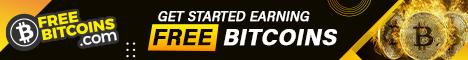 468x60 Free Bitcoins affiliate program banner