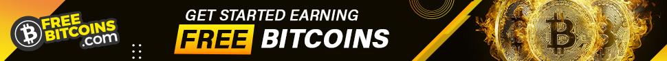 FreeBitcoin.com 970x90 earn bitcoin affiliate banner
